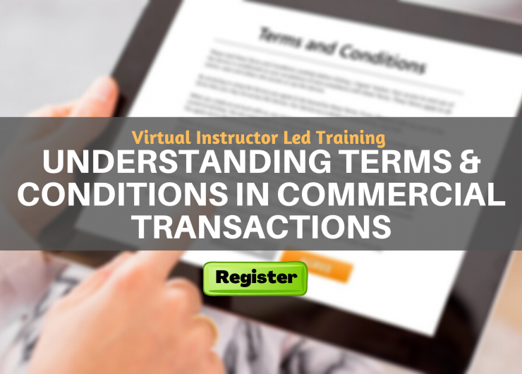 Understanding Terms & Conditions in Commercial Transactions (VILT)